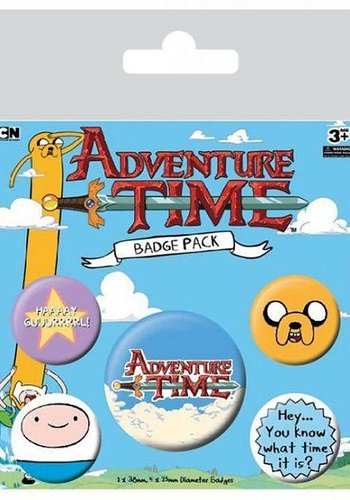Adventure Time - Badge Packs Buttons