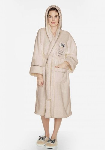 Touch At Peril: Grumpy Cat Hooded Womens Robe