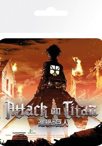 Hole In The Wall Attack On Titan Kyart - Coaster