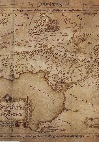 LORD OF THE RING - Mouse Mat - Map Rohan and Gondor