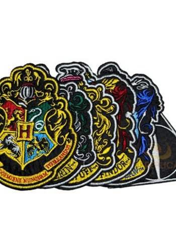 HP - Hogwarts House Crest - set of 6 patches