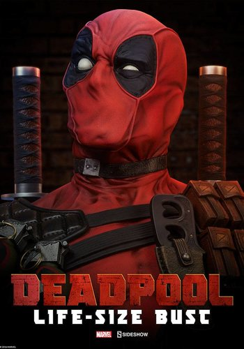 Sideshow Marvel: Deadpool Life-Sized Bust - Pre order