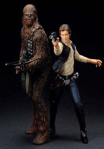 Star Wars: Han Solo & Chewbacca Artfx+ Statue