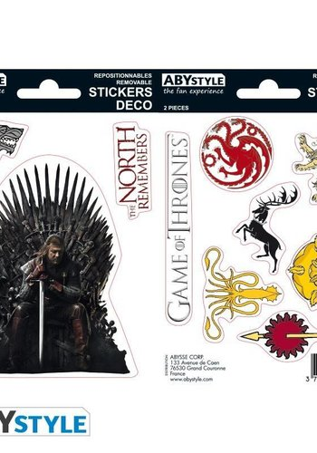 Abysse Corp GAME OF THRONES - Stickers - 16x11cm/ 2 planches - Stark/ Sigils