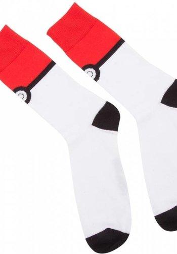 Pokemon - Pokeball Crew Socks Red And White 39-42