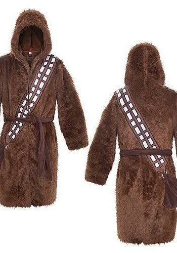 Star Wars: Chewbacca Fleece Robe Brown With Hood - Brown Belt