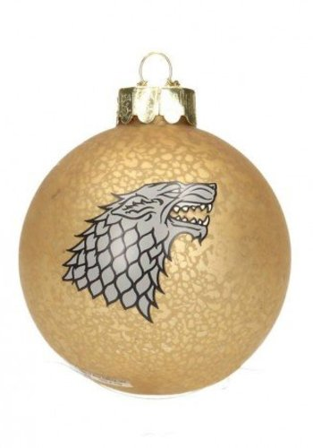 Game of Thrones Glass - Holiday ornament - Stark