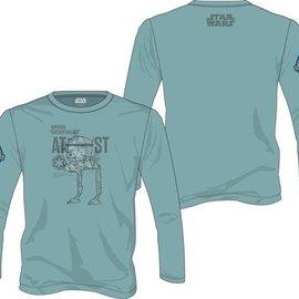 Star Wars Rogue One: AT-ST Walker L/Sleeve Green T-Shirt