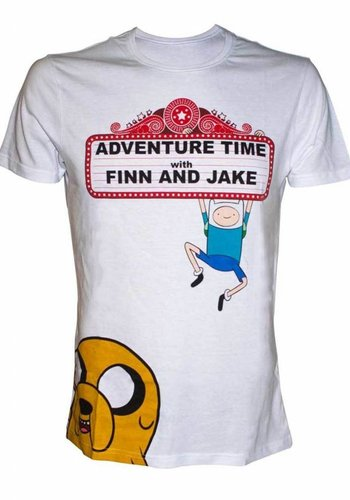 ADVENTURE TIME - FINN AND JAKE AT THE MOVIES T-SHIRT