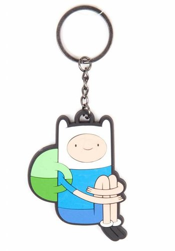 Bioworld ADVENTURE TIME - SITTING FINN RUBBER KEYCHAIN