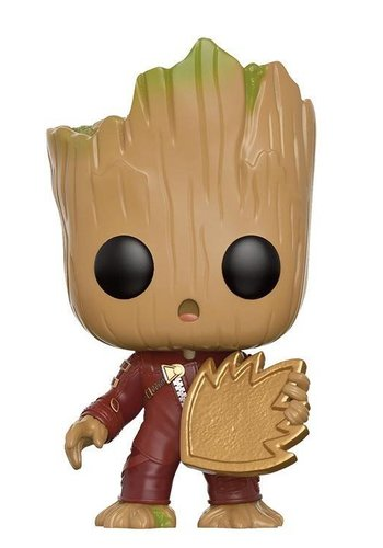 FUNKO Pop! Marvel: Guardians of The Galaxy 2 - Young Groot with Shield LE