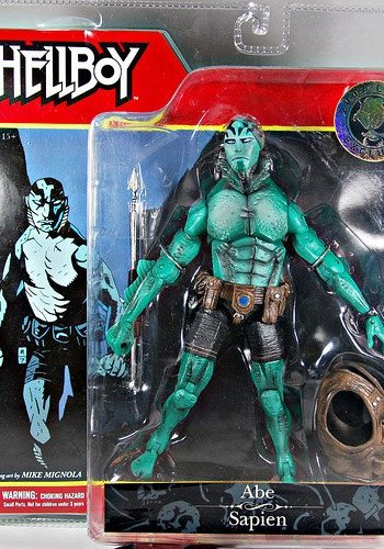 Hellboy Abe Sapien Action figure 2007 con exclusive RARE