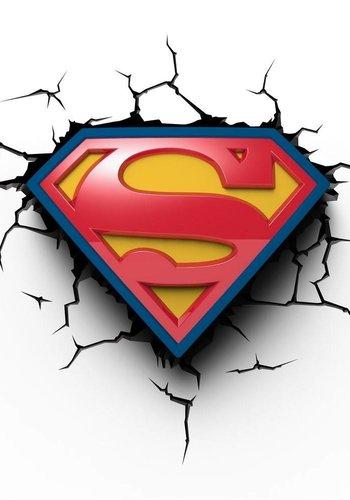 Superman S-Shield 3D deco light