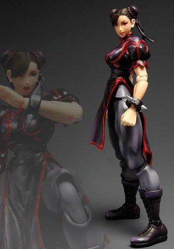 super Street Fighter IV Play Arts Kai Action Figure Chun-Li limited color black version 23 cm