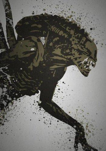 """""""Alien"""" Splatter effect artwork inspired by the xenomor ..."""