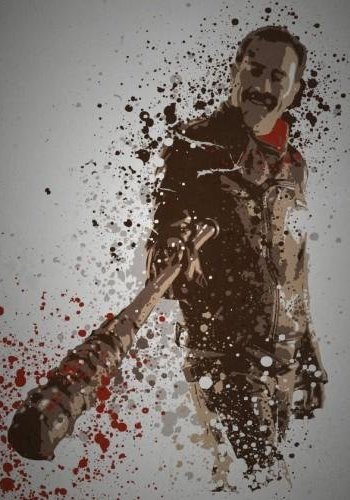 """Savior"" Splatter effect artwork inspired by Negan"