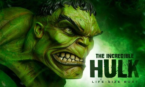 The Incredible Hulk Life Size Bust