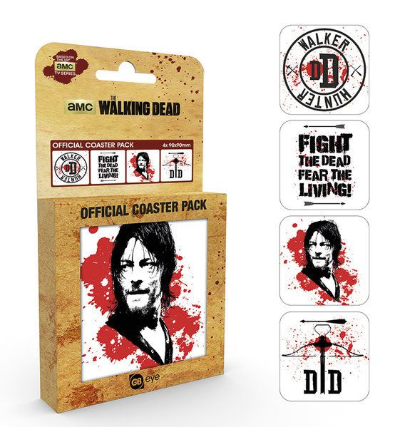 WALKING DEAD - Coaster 4- pack - Daryl