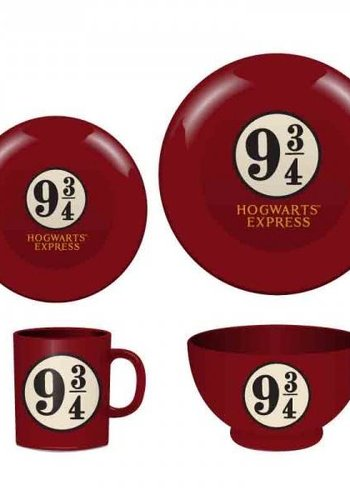 HARRY POTTER - Dinner Set 4 Pces - Platform 9 3/4