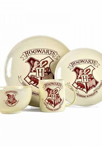 HARRY POTTER - Dinner Set 4 Pces - Hogwarts Crest