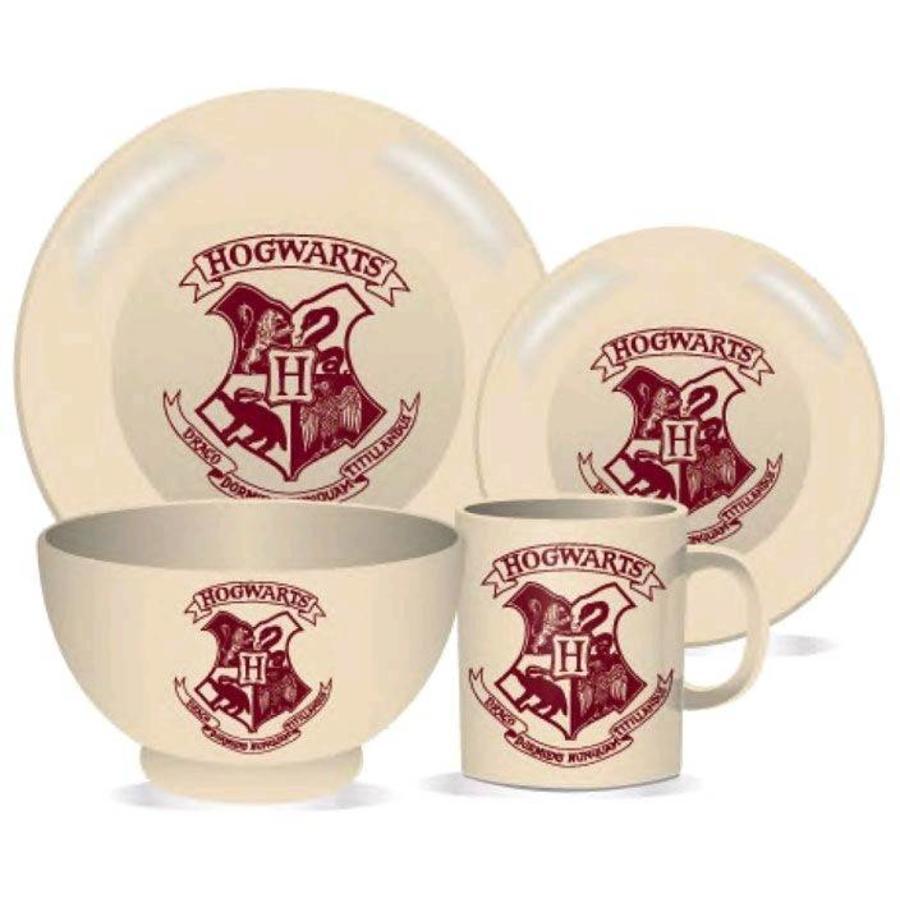 HARRY POTTER - Dinner Set 4 Pces - Hogwarts Crest