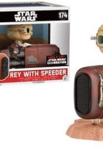 FUNKO Pop! Star Wars: Rey with Speeder LE