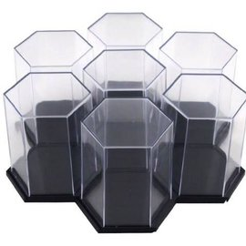 Mini Figure Hex Black Display - 3 Pack