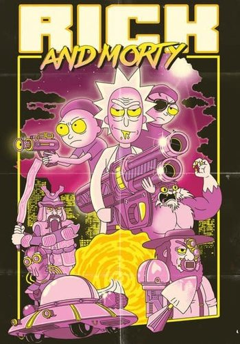 Rick and Morty Action Movie - Maxi poster