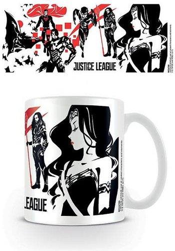 Justice League Movie Black Red Stencil - Mug