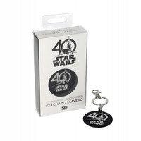 Star Wars: 40th Anniversary Logo Metal Keychain