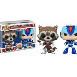 FUNKO Pop! Marvel and Capcom: Rocket vs MegaMan X 2-Pack