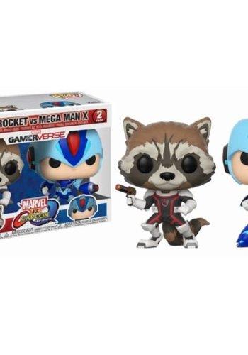 Pop! Marvel and Capcom: Rocket vs MegaMan X 2-Pack
