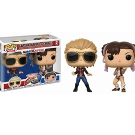 FUNKO Pop! Marvel and Capcom: Captain Marvel vs Chun-Li 2-Pack