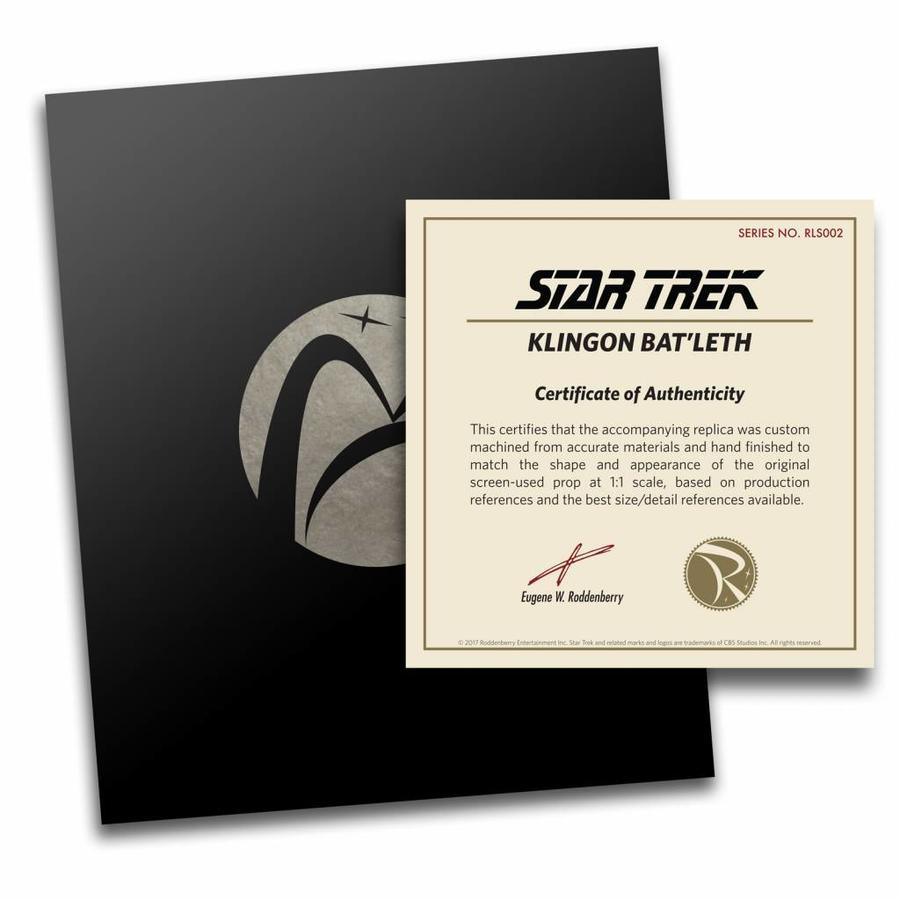 Pre - Order Star Trek: Klingon Bat'leth Prop Replica
