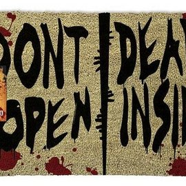 Hole In The Wall The Walking Dead Dont Open Dead Inside - Doormat
