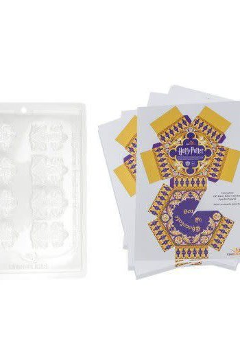 Chocolate Frog Mold + 8 papers box - Harry Potter