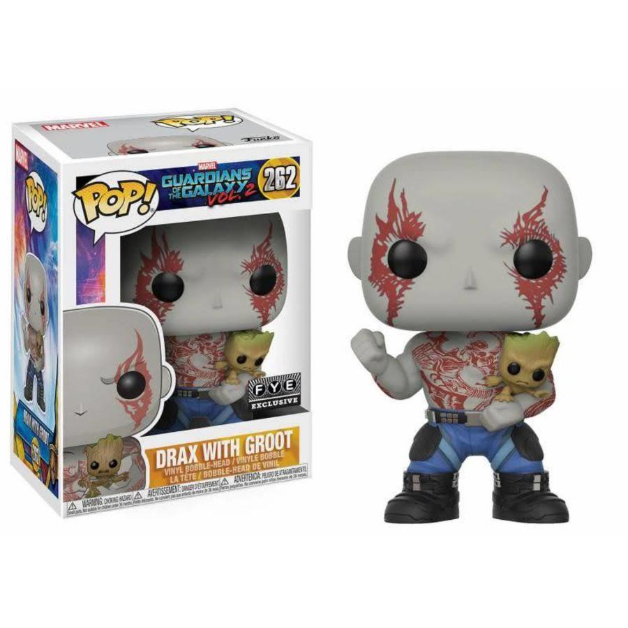 Pop! Marvel: Guardians of the Galaxy 2 - Drax with Groot Bobblehead LE