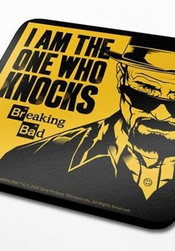"Breaking Bad ""I Am The One Who Knocks"" coaster"