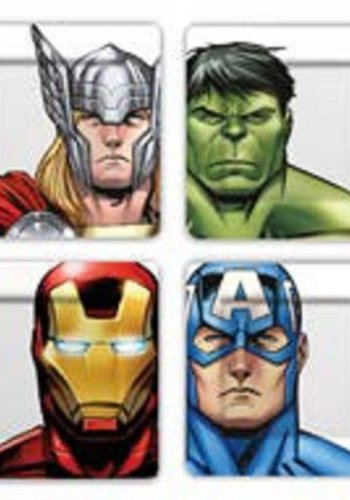 Marvel: The Avengers Faces and Helmets Plate Set