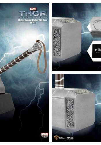 Thor 2: Mighty Hammer Mjolnir Life Sized Statue with Base