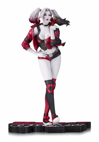Harley Quinn Red White & Black Statue by Stanley Lau