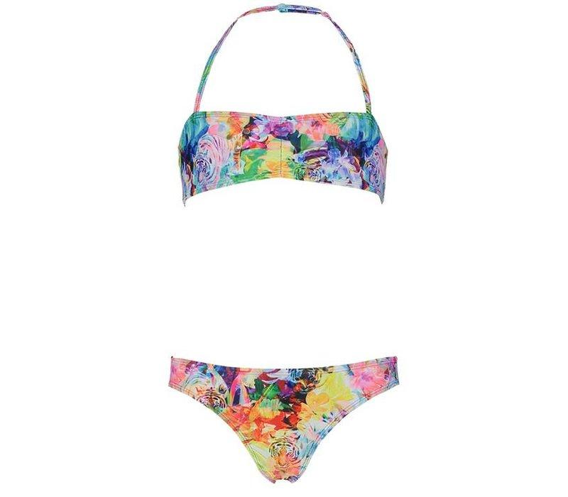 Bikini Bandeau tiger floral