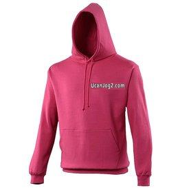 Premium Force UCANJOG College Hoodie Hot Pink