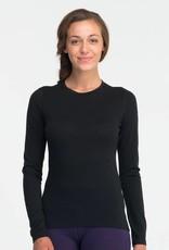 Icebreaker Ladies Oasis Crewe Bodyfit 200 Black