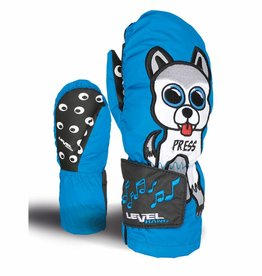 Kids Animal Sound Ski Mitten Blue
