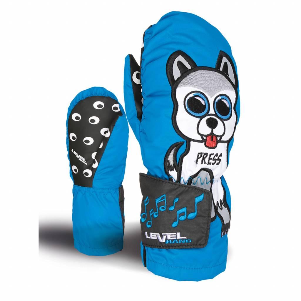 Kids Animal Sound Ski Mitten Blue