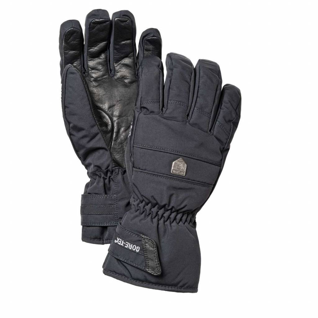 Hestra Mens G-Tex Classic Leather Ski Glove Black