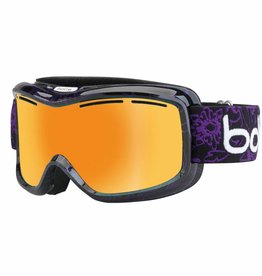 Bolle Adults Monarch Ski Goggle Black & Purple Flower