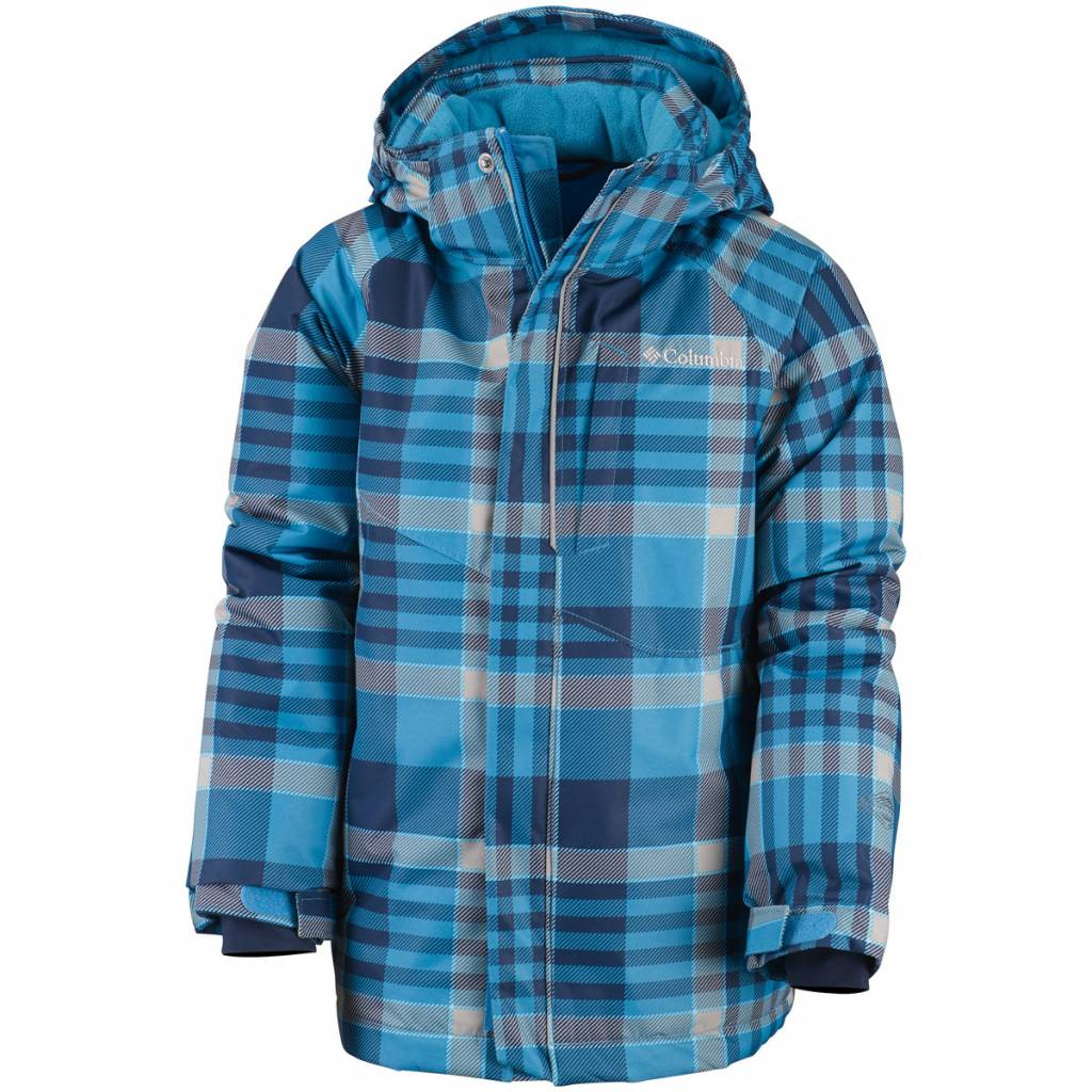 Boys Evo Fly Jacket Dark Compass Plaid