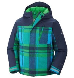 Boys Snowbank Ski Jacket Fuse Green Plaid